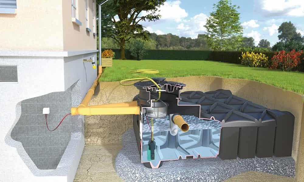 Zbiornik do magazynowania wody podziemny zestaw
